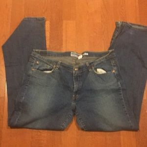 Flare stretchy jeans size 18